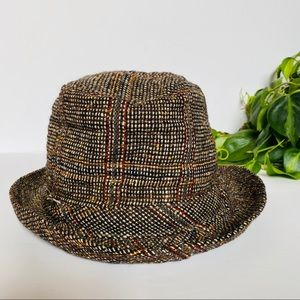 Vintage Irish Wool Tweed Woven Hipster Hat